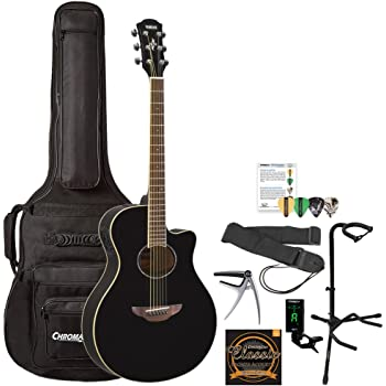 yamaha apx500iii bl kit 1 thin body acoustic electric guitar with gig bag and. Black Bedroom Furniture Sets. Home Design Ideas