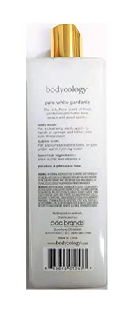 Bodycology Foaming Body Wash, Pure White Gardenia 16 oz pack of 2