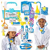 Joyful Premium Doctor Play Set with Lab Coat, Phone and 20 Pieces of Doctor Pretend Tools. Realistic, Safe & Fun Doctor Role Play Educational Toy to Develop Kids Imagination, Cognitive and Fine Skills