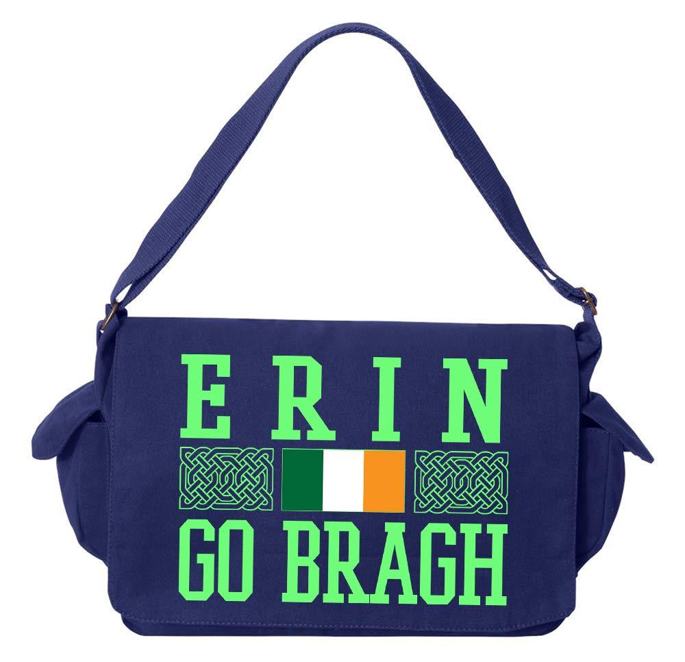 Tenacitee Erin Go Braugh Maroon Brushed Canvas Messenger Bag