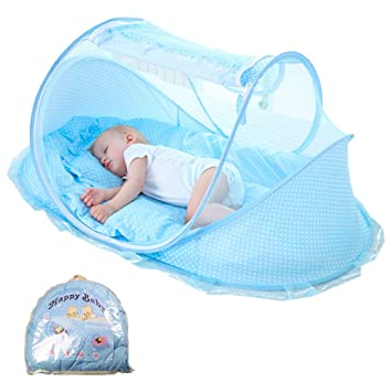 Style Of BAY Direct Baby Travel Bed Folding Baby Tent Portable Baby Crib Mosquito Net Soft Model - Lovely portable infant bed Contemporary