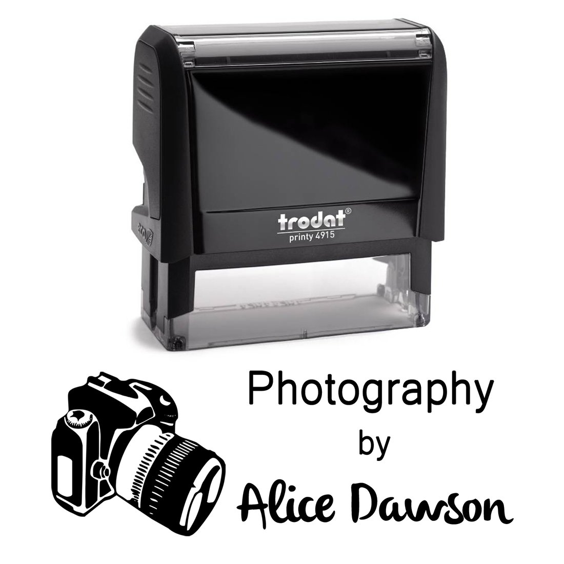 Black Ink, Photgrapher Camera Business Stamper Custom Self Inking Return Address Stamp Personalized – Perfect for Photography Business Labelling, Cards, Return Mail, Advertising