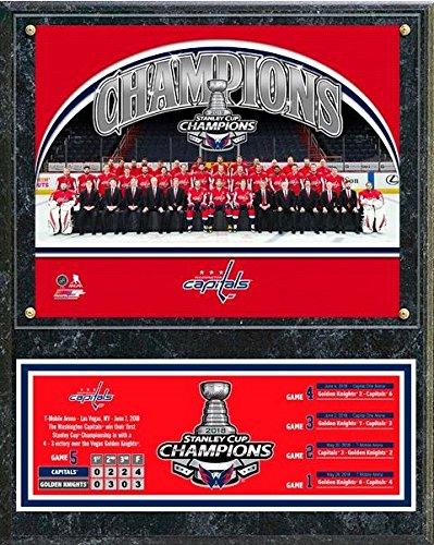 (Washington Capitals 2018 Stanley Cup Champions Wood Plaque (Size: 12