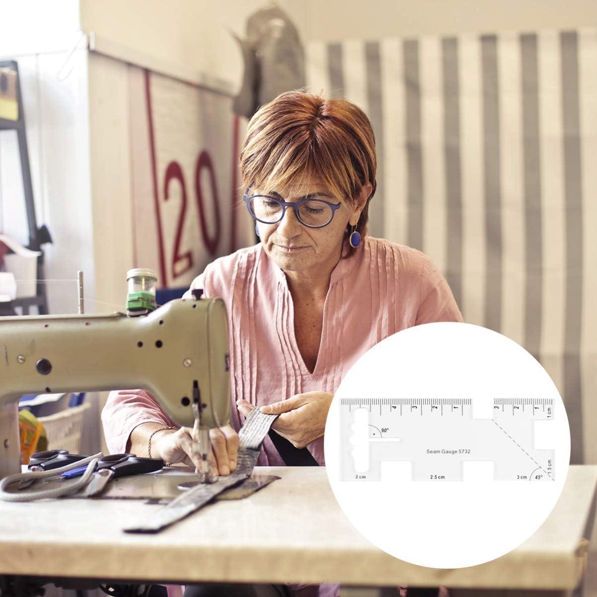 Artibetter Couture Couture Jauge R/ègle Acrylique Tailleur R/ègle Concepteur Tissu Outil de Mesure pour Bricolage Artisanat Matelassage Tricot