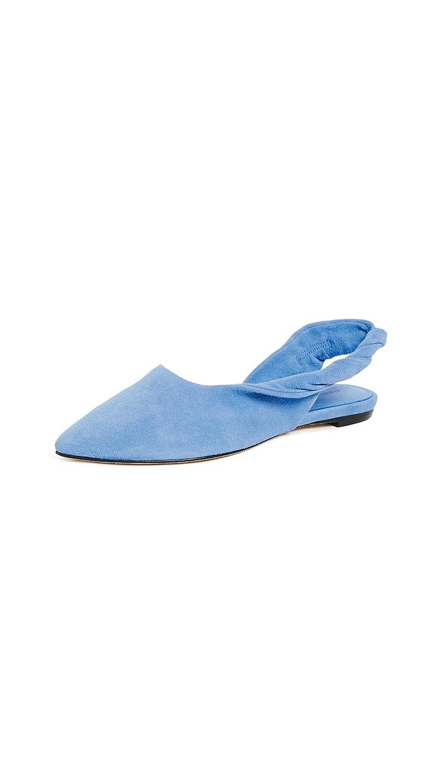 Sigerson Morrison Women's Sham Ballet Flat B07573R455 8 B(M) US|Blue