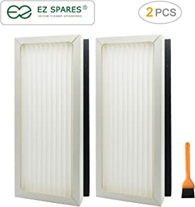 EZ SPARES 2pcs Replacements for Hamilton Beach True Air Purifier 04383 04384 04385 04386 Part # 990051000 Air Filter Hepa Attachment