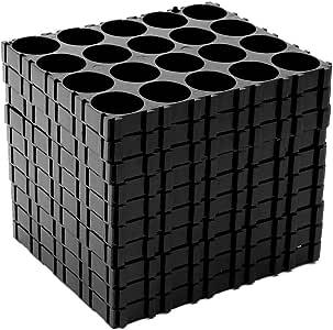 Ranuw 10x 18650 batería 4x5 Cell Separador Radiating Shell Pack ...