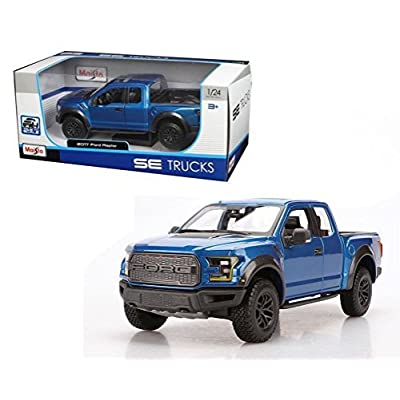Maisto New 1:24 W/B Special Trucks Edition - Blue 2020 Ford Raptor Diecast Model Car: Toys & Games