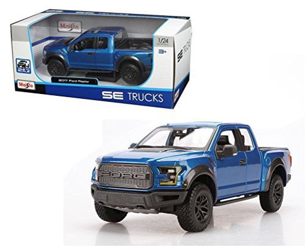 New 124 w b special trucks edition blue 2017 ford raptor diecast model car by maisto die cast vehicles amazon canada