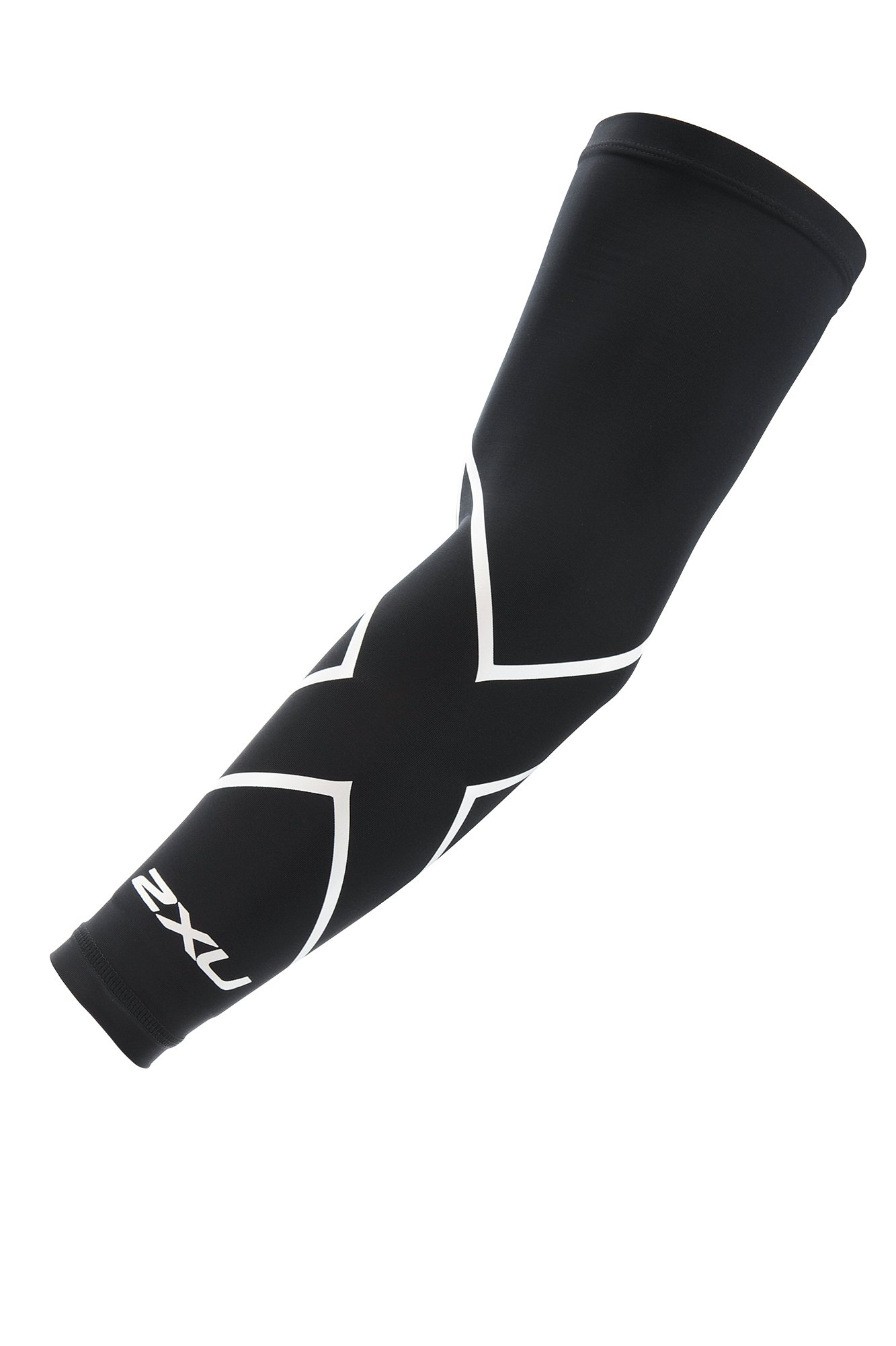2XU Compression Single Arm Guard, Black/White, X-Small by 2XU (Image #2)