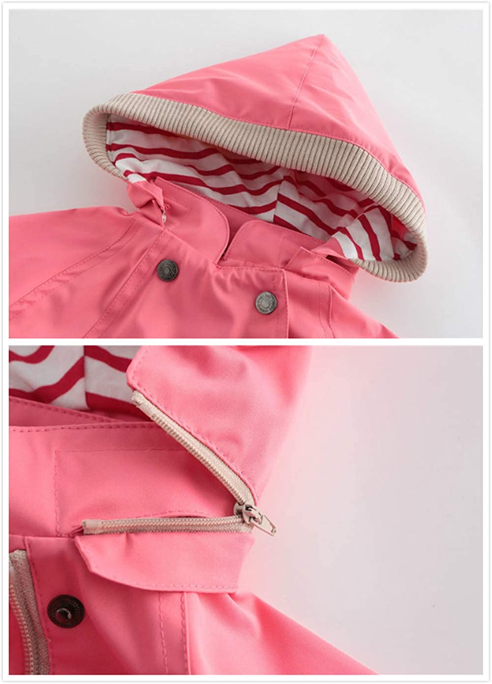 ZPW Boys Girls Spring Fall Outdoor Hooded Rain Jacket
