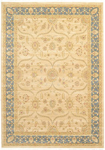 Unique Loom Edinburgh Collection Oriental Traditional French Country Champagne Area Rug (7' 0 x 10' 0) Country Heritage Yellow Rug