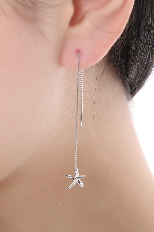 Thai Love You Starfish Ear Wire Earrings earings Dangler Eardrop Women Girls Personality Elegant Woman s925 Sterling Silver Jewelry Earrings Unique Gift by KGELE Earrings