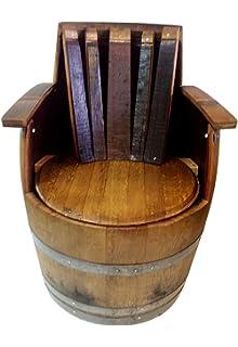 Amazoncom Wine Barrel Adirondack Chair Garden Outdoor