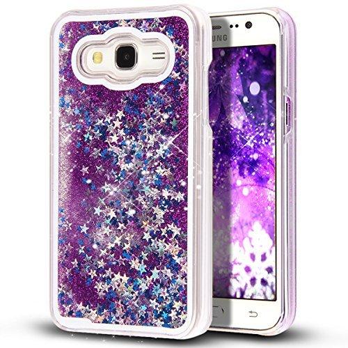quality design 5f0eb 81b3b Galaxy Core Prime Case,NSSTAR Galaxy Core Prime [Liquid] [Glitter]  Case,Creative Design Flowing Liquid Floating Bling Glitter Sparkle Stars  Clear Hard ...