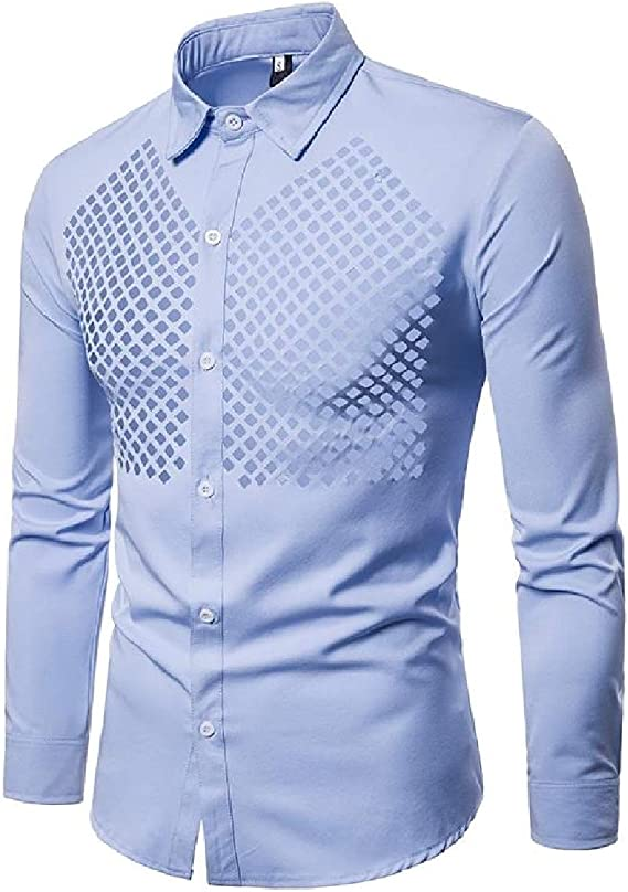 Mfasica Mens Long Sleeve T-Shirts Stand Collar Solid Color Slim Fit Longshirt