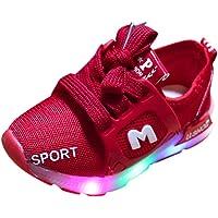 Heligen_Baby Shoes Abstand Unisex-Kinder LED Sneakers Mode Blinkschuhe Low-Top Casual Outdoor Sneakers Laufschuhe Sportschuhe Hallenschuhe für Jungen und Mädchen Größe 21-30