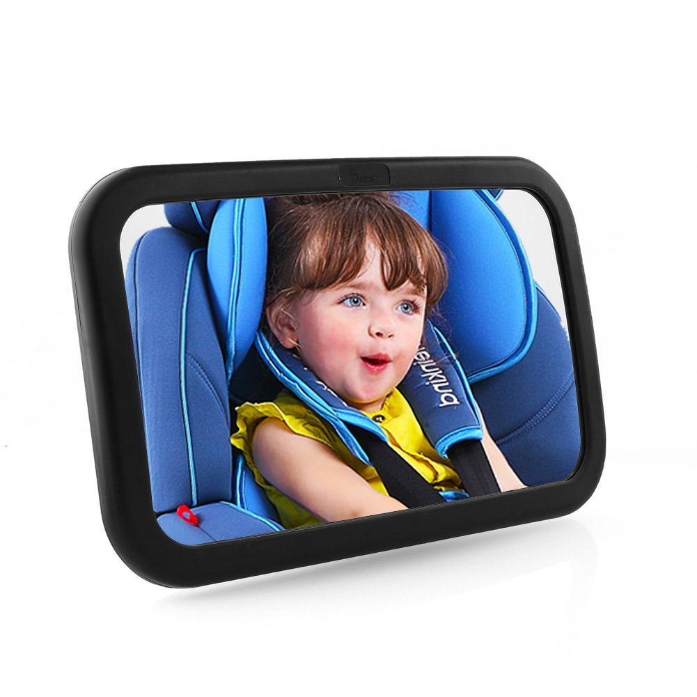 MVPOWER Baby Rear View Mirror with Anti-Wobble Fixing Straps, 360 Degree Adjustable Backseat Safety Car Mirror Ideal for Watching Baby at Any Angle