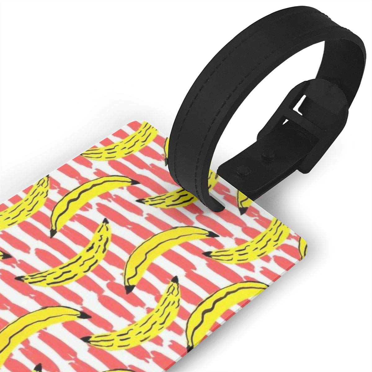 Banana Pattern Travel Tags For Suitcase Bag Accessories 2 Pack Luggage Tags