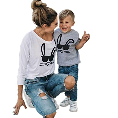 Mutter und Kinder Tochter Pullover Sweatshirt Pullover T Shirt ...