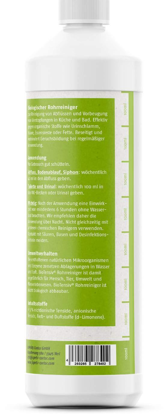 desatascadora, mikrobiologisch de biotensiv®, schonend ...