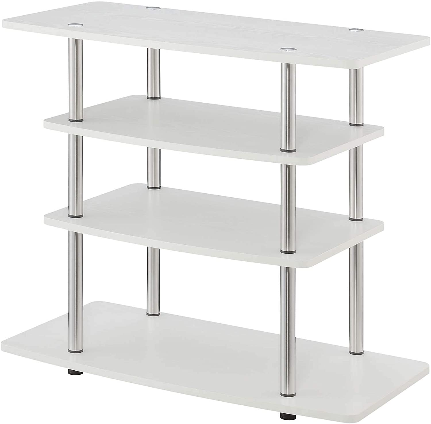 Convenience Concepts Designs2Go Tools Highboy TV Stand, White