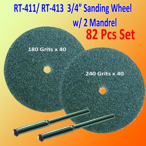 Pack of 82 240 / 180 Grits 3/4