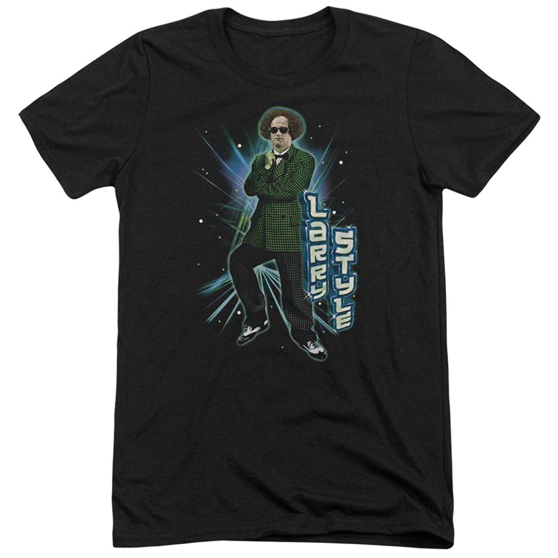 Three Stooges Men's Larry Style Tri-Blend T-Shirt
