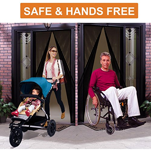 [Pack of 10] Magnetic Screen Door, Quick Install Mesh Curtain, Auto Close Magnets, Pet & Toddler Friendly, Walk Through Hands Free, Fit 32'' - 34'' X 82'' Doors. Stop Bugs & Get Fresh Air Into Your Home! by AntiBugScreen (Image #5)