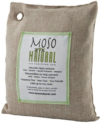 Moso Natural Air Purifying Bag 500-Grams. Natural Color. Natural Odor Eliminator. Fragrance Free, Chemical Free, Odor Absorber. Captures and Eliminates Odors. by Moso Natural (Image #1)