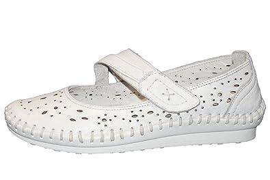 Gemini Damen Ballerina Weiß 304 02 001: : Schuhe