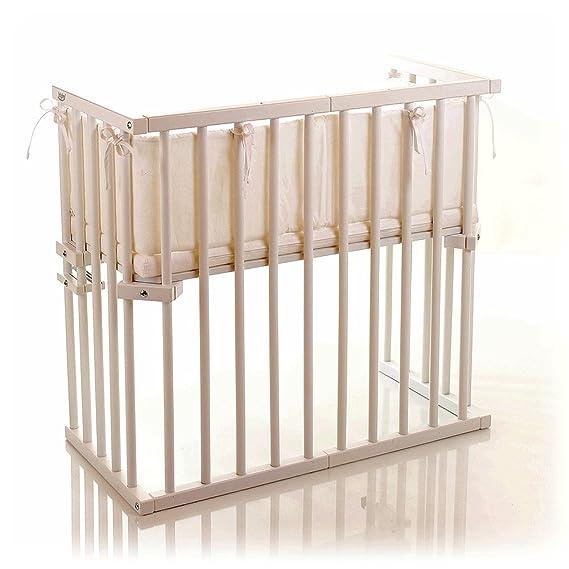 Babybay midi 120102 - Cuna esquinera multiusos barnizada en blanco [importado de Alemania]: Amazon.es: Bebé
