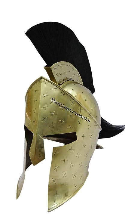 Co romanos Collectibles Medieval Spartan casco rey 300 leónidas Armor LARP casco acabado