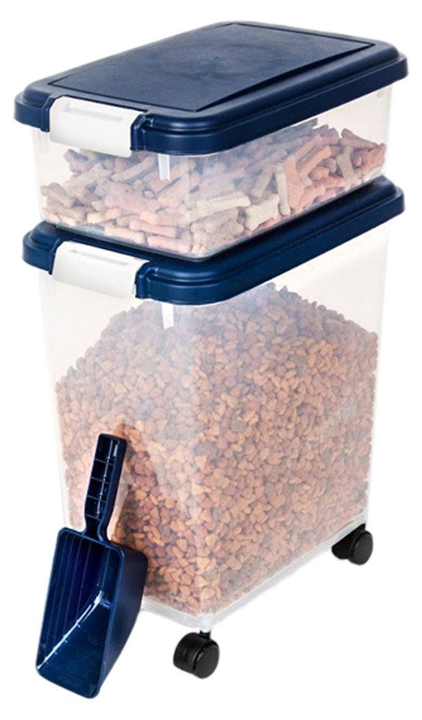 Myriad Pet Solutions 3 Piece Pet Food Storage Bin with Scoop, Blue