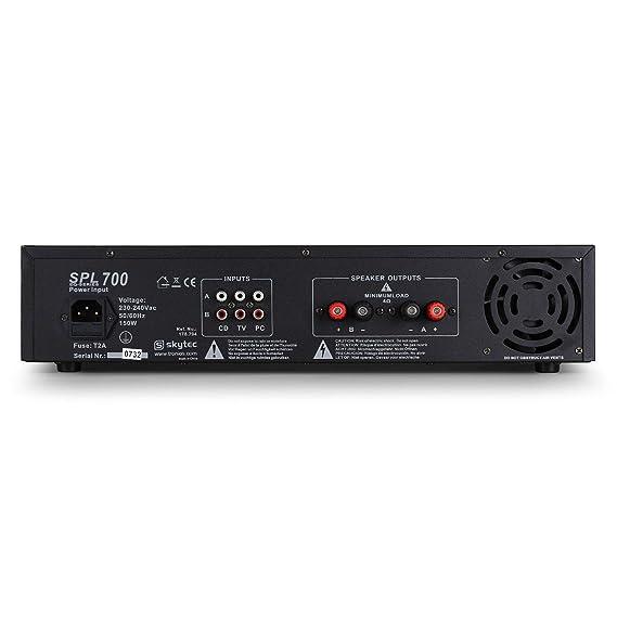 Skytec SPL700 Amplificador Sonido Profesional DJ 2000W: Amazon.es: Electrónica