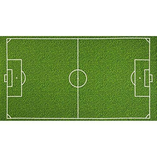 Field Soccer - Robert Kaufman Sports Life Soccer Field Grass 24in Panel Green Fabric,