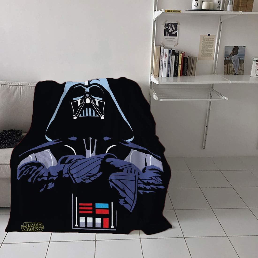 OBI Wan Fuzzy Flannel Blanket Throw Anti-Static Lightweight Microfiber Star Wars Lightsaber Soft Fleece Throw Blanket 40 x 50