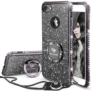 coque iphone 8 noir brillant