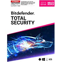Bitdefender Total Security Multi Device 2019 - Inkl. VPN - 2 Jahre / 5 Geräte für Multi Plattform (PC, Mac, Android und iOS)