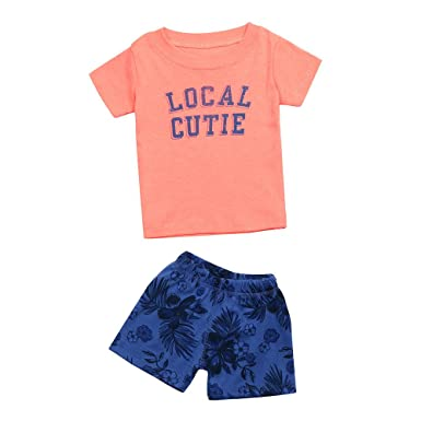 463ee8f1e5e6 Bellelove Summer Fashion Cute Newborn Kids Baby Girls Boys Outfit ...