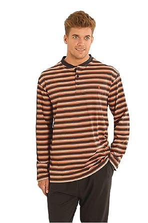 975d427d371eca Herren Gestreifter Langer Zweiteiliger Schlafanzug/Pyjama der  Zwischensaison, Moderne Nachtwäsche für Männer - Strickwaren