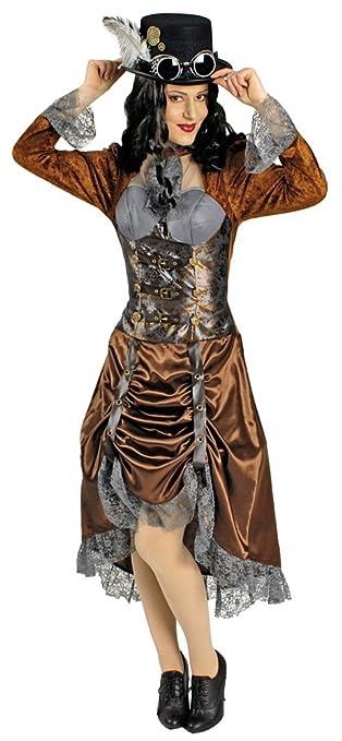 steampunk miss eliza kostum fur damen gr 34
