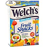 gummy fruit snacks bulk - Welch's Family Farmer Owned Fruit Snacks, Mixed Fruits 120 Pouches (Twin Pack, 2 x 60 Pouches)