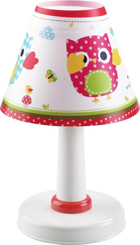dalber - lampada da comodino, motivo: gufi: amazon.it: prima infanzia - Comodino Con Gufi