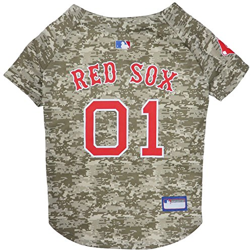 - Pets First MLB Camo Jersey for Dogs - Boston RED SOX Hunting Jersey, Small. - MLB Team Logo Camouflage PET Jersey