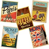 Great European Cities Vinyl Sticker Set