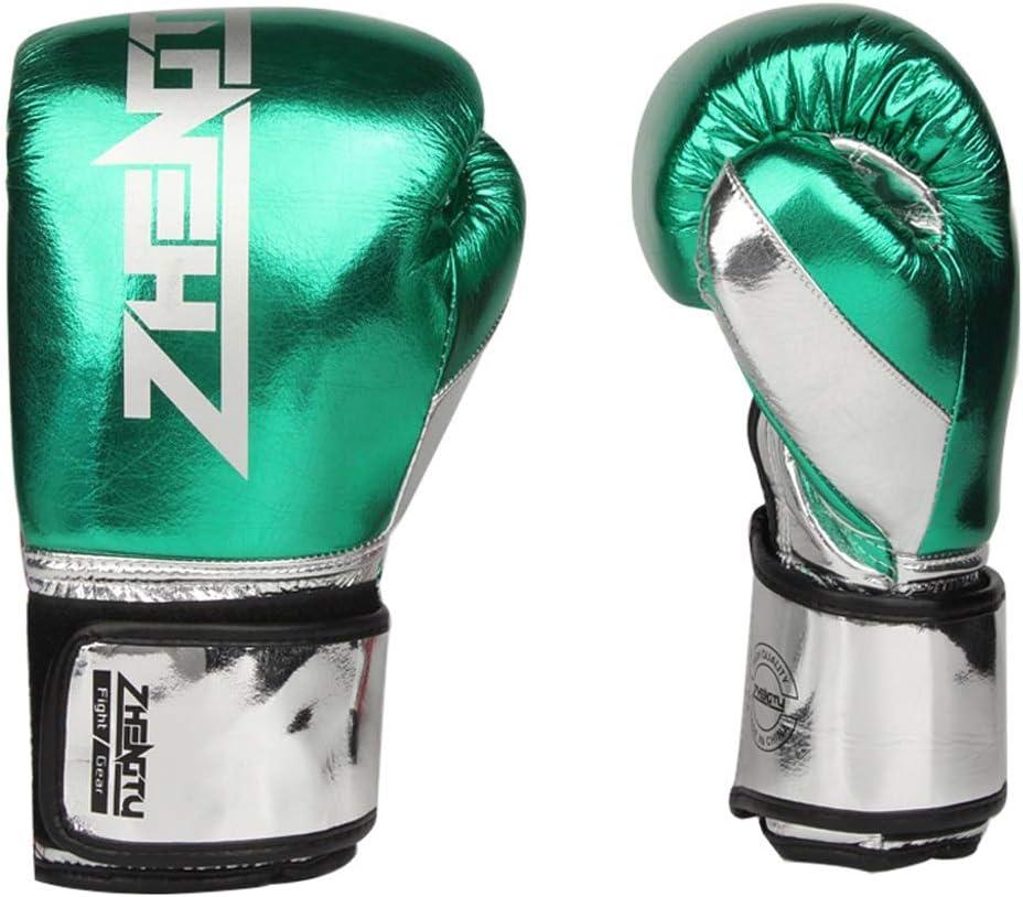 ボクシンググローブ品質PUレザー素材三田手袋ムエタイの戦いサンドバッグボクシンググローブ 緑 12OZ