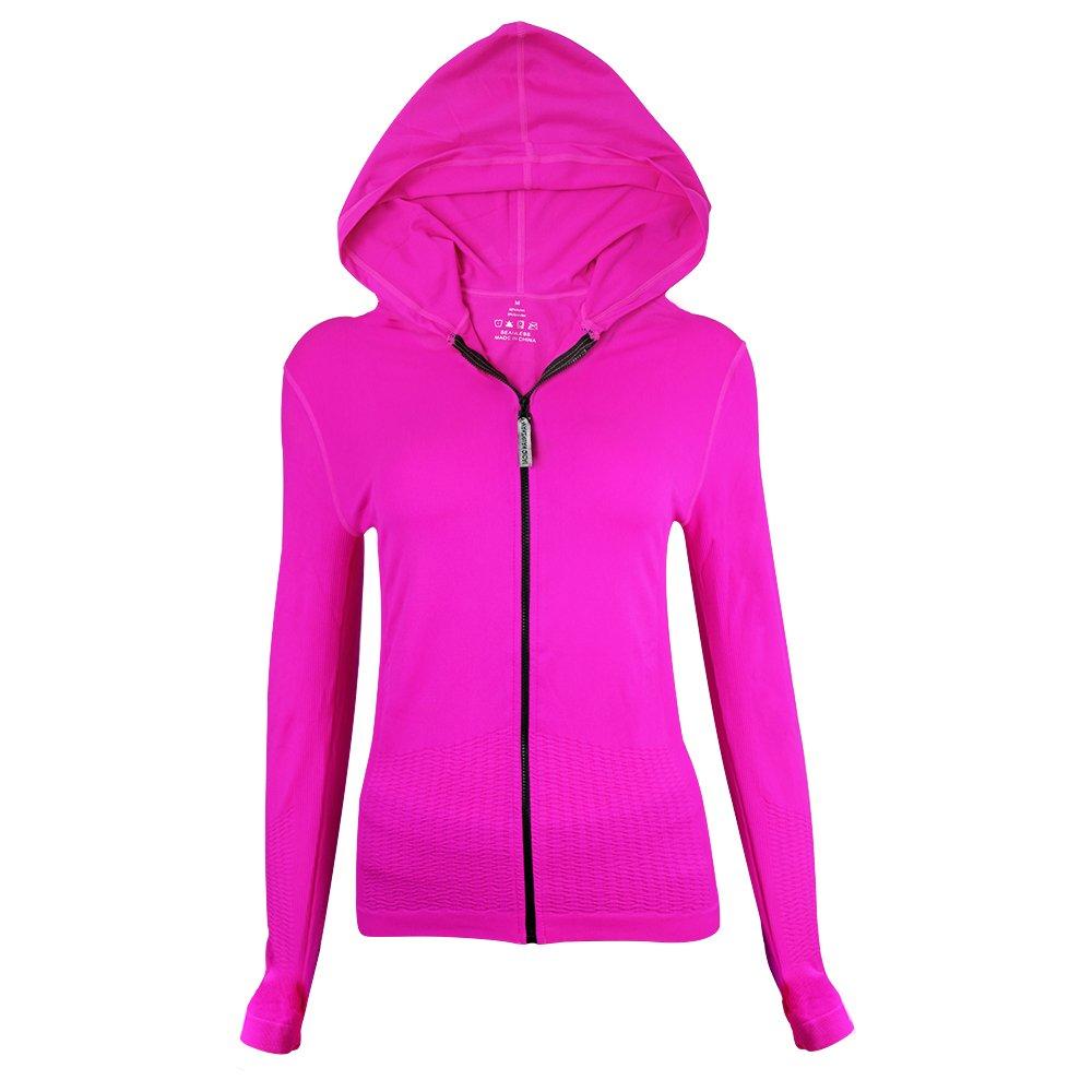 La Dearchuu Full Zip Quick Drying Thumb Holes Yoga Jackets Workout Jackets