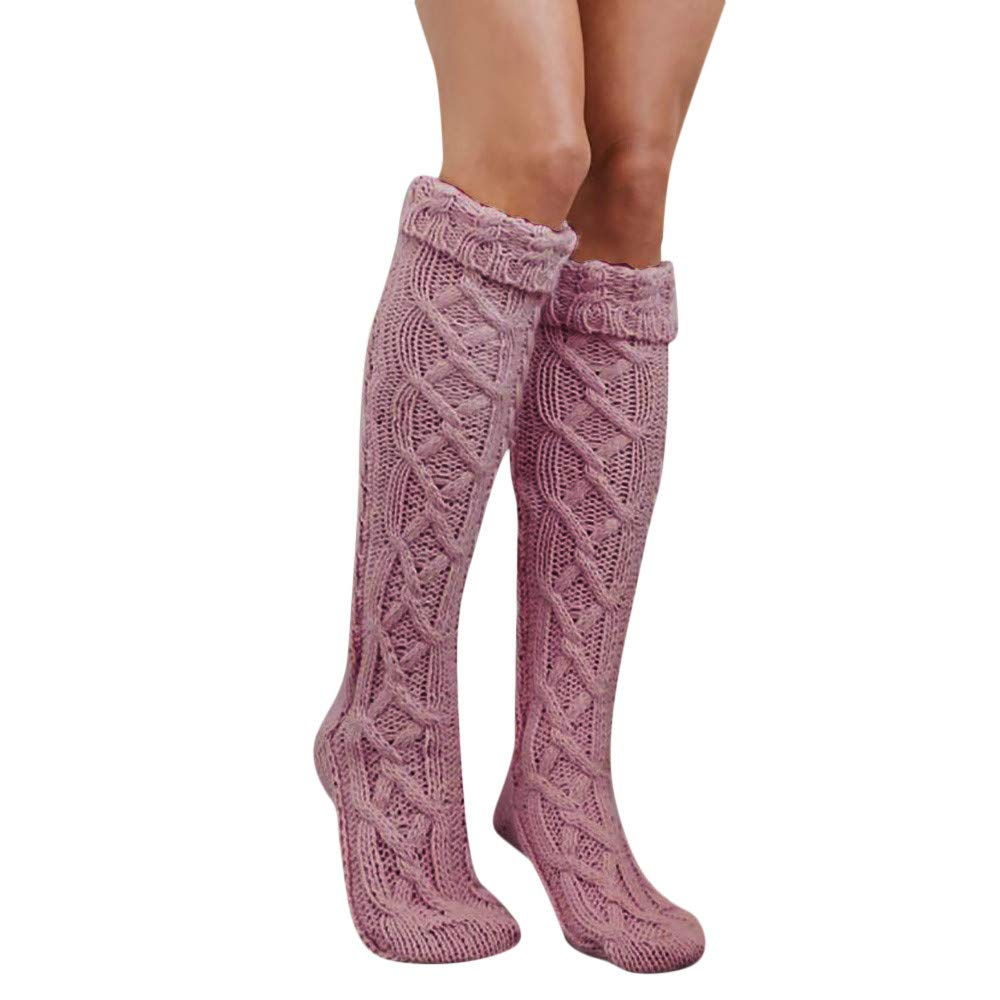 Forthery Cable Knit Leg Warmers Over The Knee High Socks Knit Boot Socks Stockings Forthery-clothes accesorries