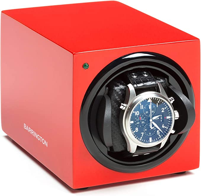 Barrington | Estuche Cargador Barrington para Un Reloj - Rojo Carmesí Cojín Estándar: Amazon.es: Relojes